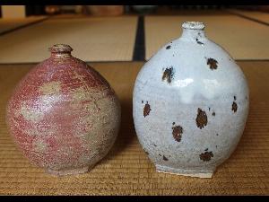 Two Henko-Jars by Hamanaka Gesson