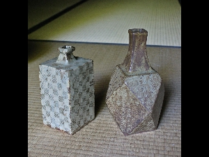 Two Shibui Mashiko Vessels by Shimaoka Tatsuzo