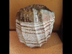 Large Nezumi-Shino Henko-Jar by Hori Ichiro