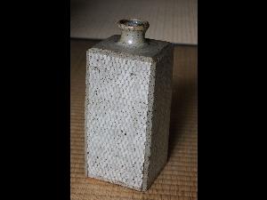 Mashiko Square Jomon-Vase by Shimaoka Tatsuzo