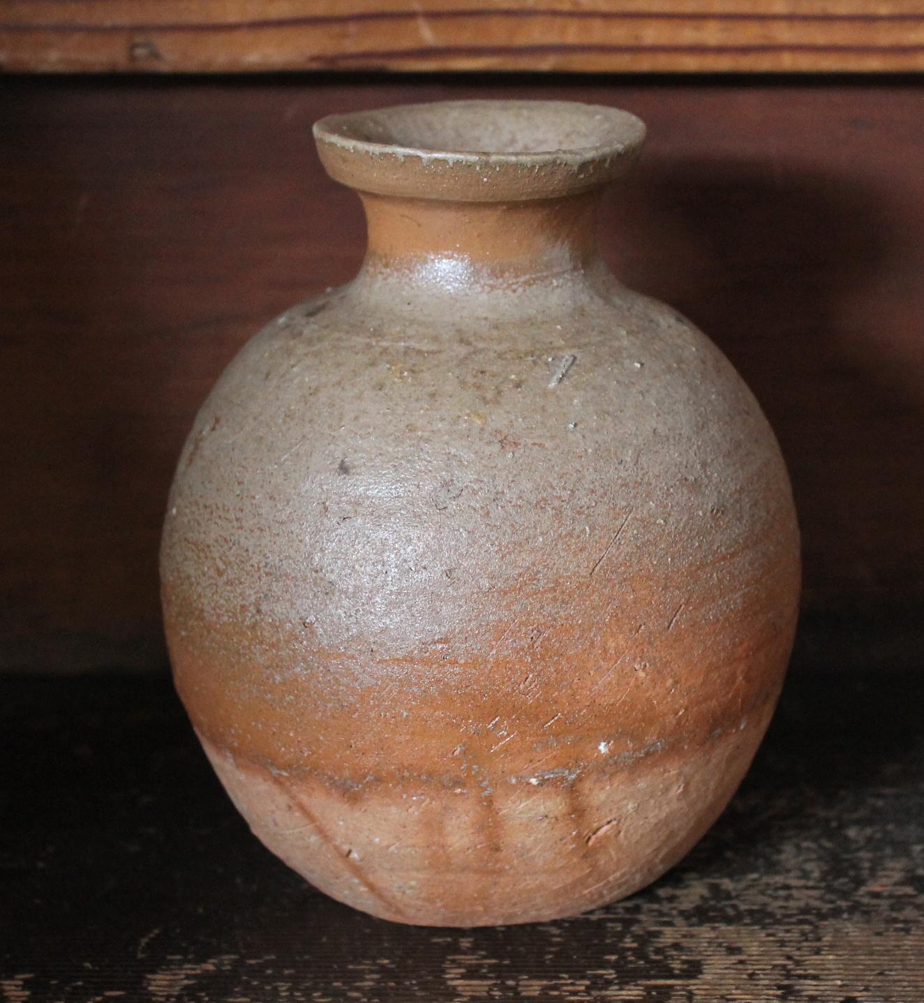 Mori Togaku 1980 Bizen Kabura Flask-Vase