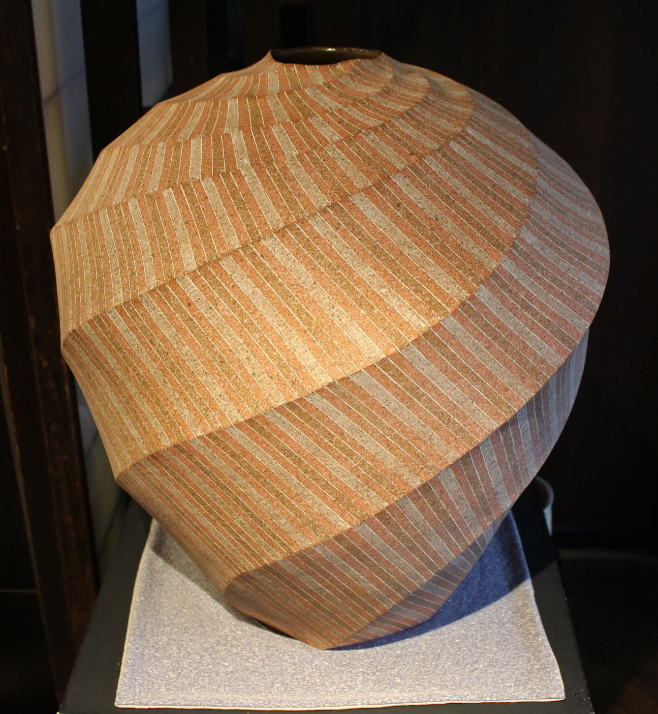 Spiral Zogan-Inlay Jar by Ishiyama Tetsuya