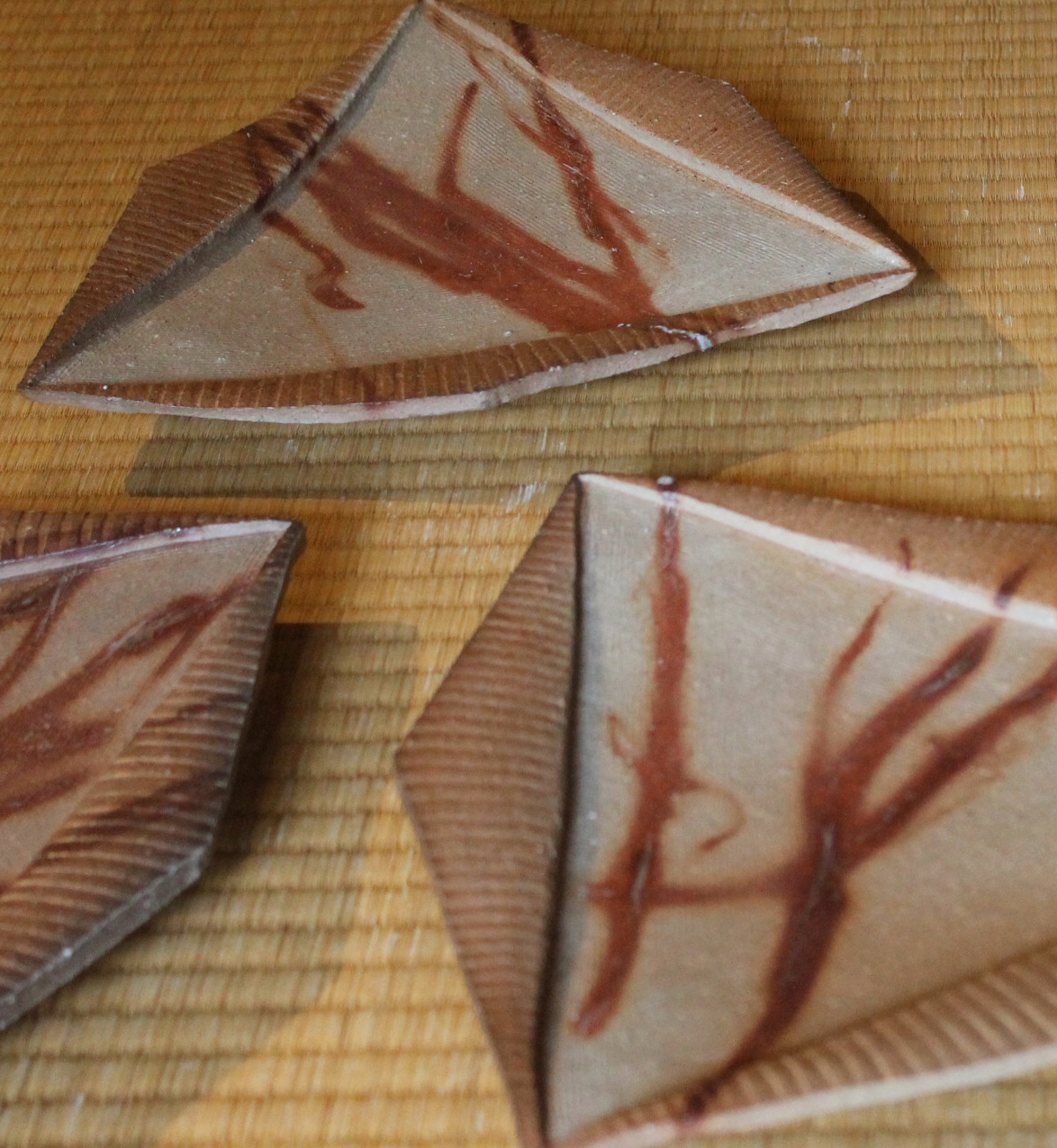Set of Five Bizen Plates by Mori Togaku