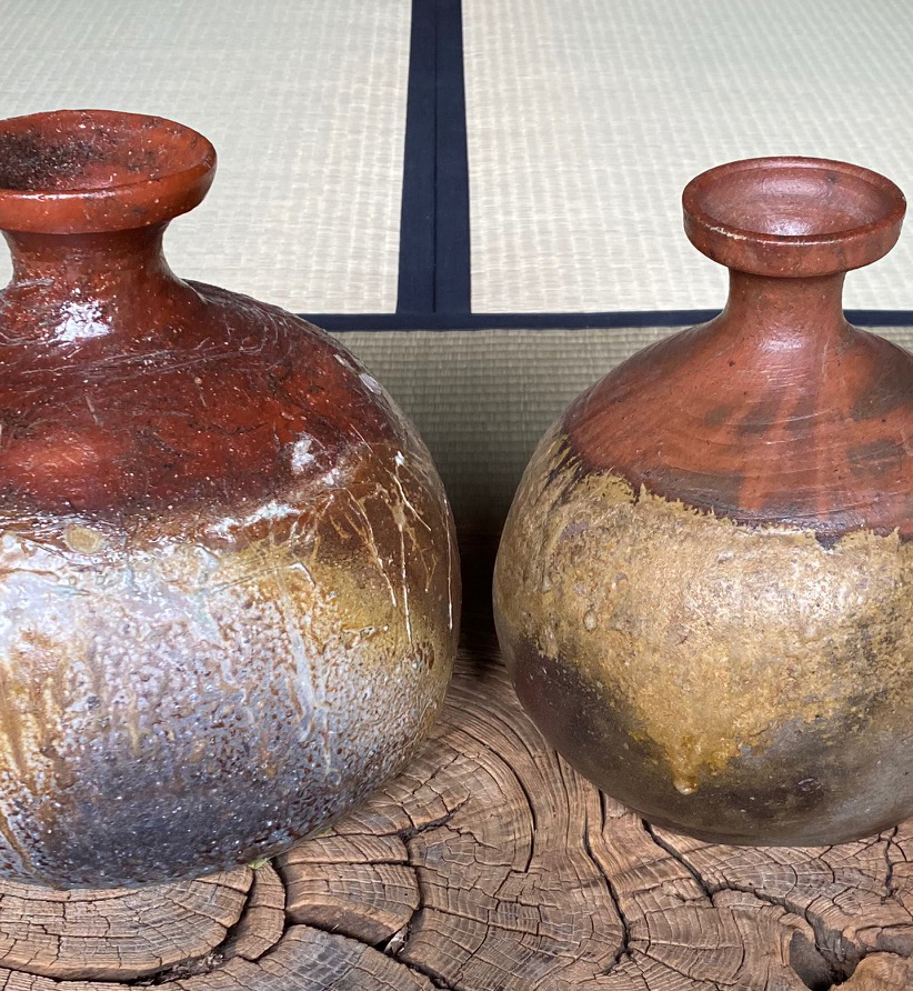 Old and New–Bizen Kabura Tokkuri