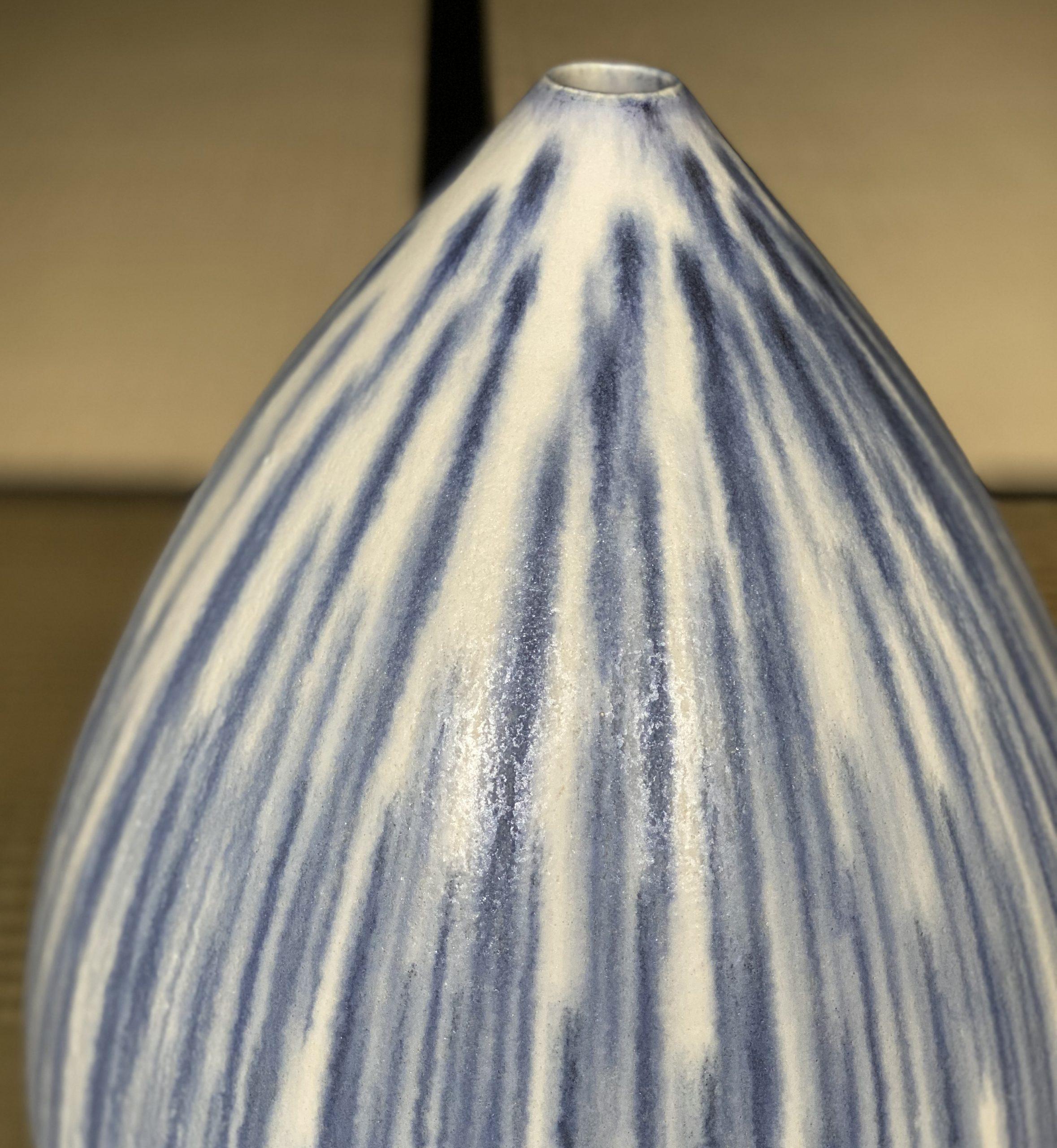 Blue-White Glazed Jar by Kiyomizu Hiroaki